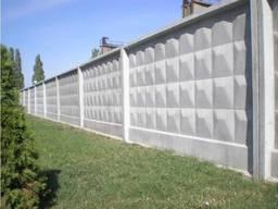 Ограждение железобетонный забор панели ЗП-250, 400-8, 400-2