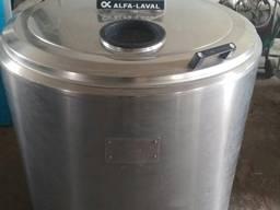 Охладитель молока б/у Alfa Laval 400 открытого типа объёмом