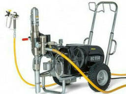 Окрасочный агрегат для распыления битума и шпатлёвки с. . .