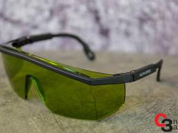 Окуляри зелені захисні відкриті для зварювання Sizam Alfa Spec 2713
