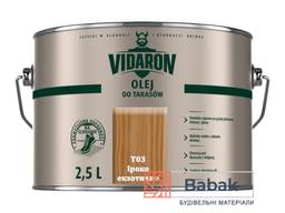 Олія для терас Vidaron ( Т03 Іроко екзотичне ) 2. 5л