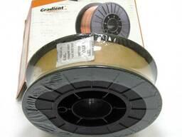 Омедненная проволока(СВ08Г2С) ER70S-6 д. 1, 2 мм, кассета 5кг