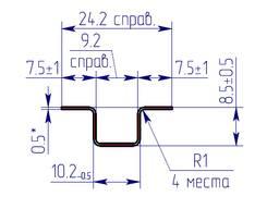 Омега профиль для клинкерной плитки
