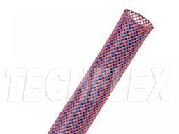 Оплетка для кабеля 6. 35 мм, синяя с красным