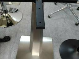 Опоры, ножки для стола, подстолья из нержавеющей стали 450Х450, фигурная нога