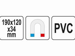 Органайзер пластиковий з магнітним дном YATO 190 х 120 х 34 мм 15 відділень - 33 х 33 мм