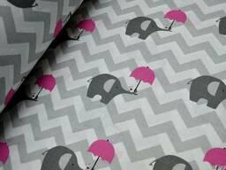 Оригинальное постельное белье детское, Слоники-Зонтики