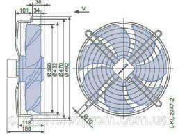 Осевой вентилятор Ziehl-Abegg FN040-VDK. 0F. V7P1