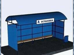 Остановки автобусные из профнастила/профлиста, поликарбоната