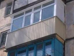 Остекление балкона в хрущевке, расширение балкона