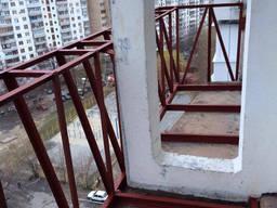 Остекление балконов. Утепление балконов. Французский балкон. - фото 3
