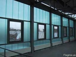 Остекление фасадов поликарбонатом
