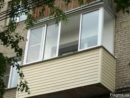 Остекление П-образного балкона в кредит, рассрочку