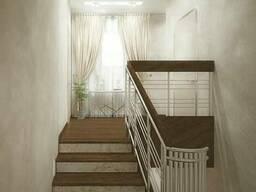 Отделка деревом бетонных и металлических лестниц