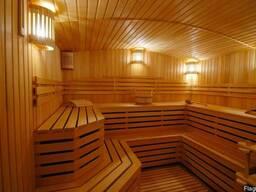 Отделка внутренняя бани, сауны вагонкой, монтаж бани