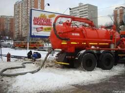 Откачка канализации. Прочистка труб канализации Киев.