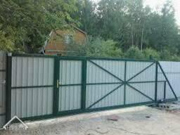 Откатные (раздвижные) Ворота Профнастил 3200*1700