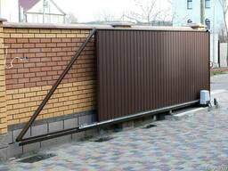 Изготовим откатные ворота различного размера и типа