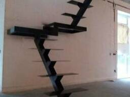 Каркас для открытой лестницы с разворотом 180гр. От 18, 5 ты.