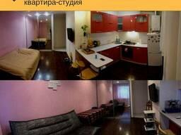 Отличная студия на Фрунзе с ремонтом, мебелью и техникой!