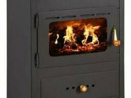 Отопительно-варочная печь с чугунной плитой Prity K1 CP