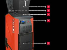 Отопительного котла trotex является принцип нижнего горения