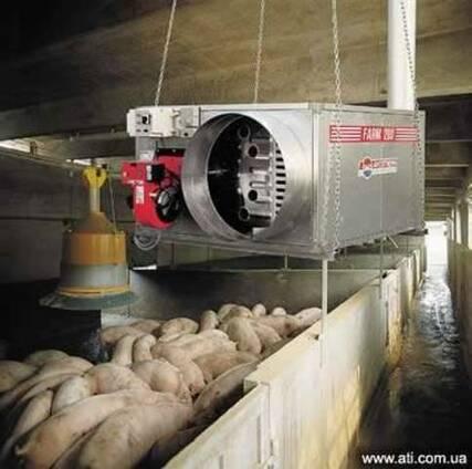 Отопление теплиц, птичника, ферм, животноводства