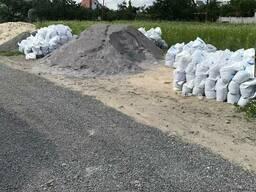 Отсев Песок мытый Щебень Цемент в мешках пісок щебінь