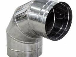 Отвод 90*нерж. 0,5 мм, диаметр 100мм. дымоход