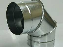 Отвод 90*нерж. 0, 8 мм, диаметр 120 мм. дымоход