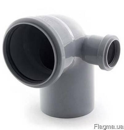 Отвод 90° ПП и ПВХ с правым выходом для внутренней канализац