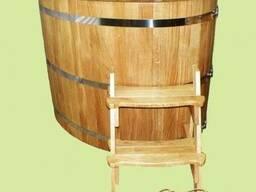 Овальная купель из дуба, деревянная ванна 1200*800*1000