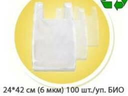 Пакет Майка 24*42 см (6 мкм) БИО 100 шт./упаковка