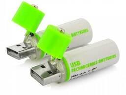 Пальчиковые батарейки USB Rechargeable Batteries 1450 mA