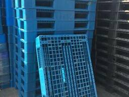 Пластиковый поддон 120*80 синий на полозьях (пищевой)