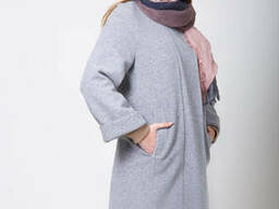 Пальто s-2068 светло-серый