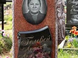 """Памятник гранитный,камень """"лезники"""",красного цвета."""