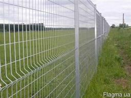 Панельный забор из сварной сетки, цвет - серый - фото 1