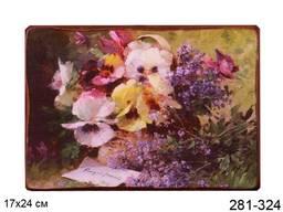 Панно декоративное Цветы 17*24 см.