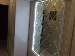 Панно из зеркальной плитки с фацетом 10мм