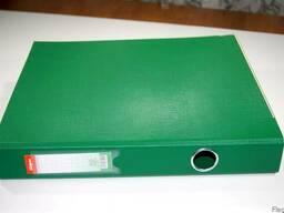 Папка регистратор А4 2 кольца 4 см зеленая SK-494