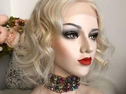 Парик из натуральных волос №99 — качественный парик из 100% натуральных волос блонд