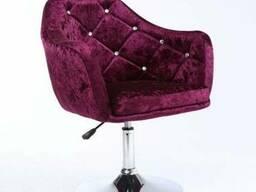 Парикмахерское кресло велюровое