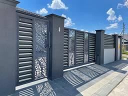 Декор-вставка, Паркан і ворота з декором, дизайнерські ворота