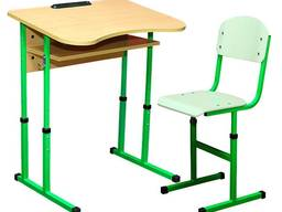 Парта стілець одномістний регул. антис. 4-6 р. г. на квадра