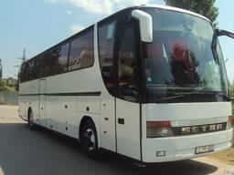 Пассажирские перевозки автобусом Setra, 50 мест.