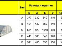 Павильон для бассейна из поликорбатана (6, 4x3, 3x1, 1) 3 cекци