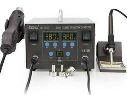 Паяльная станция Bakku BA-8702D цифровая индикация, фен, паяльник (335*276*210) 4, 43 кг