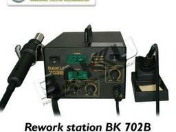 Паяльная станция Bakku BK-702B цифровая индикация, фен, паяльник (325*270*190) 4, 88 кг