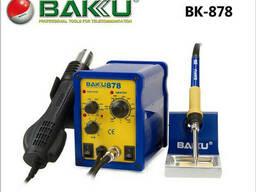 Паяльная станция Bakku BK-878, фен, паяльник (257*172*167) 2, 25 кг